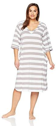 Arabella Women's Plus Size 3/4 Sleeve Tunic Nightgown