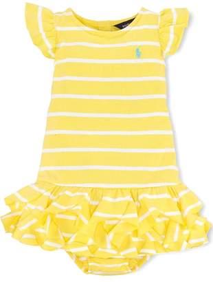 Ralph Lauren Lemon-Stripe Ruffle Dress/bloomer-Set