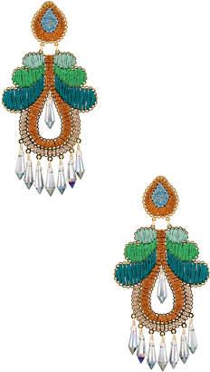Mercedes Salazar Curubas Earrings in Orange, Green & Blue | FWRD