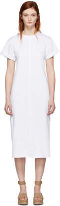 3.1 Phillip Lim White Shoulder Slit T-Shirt Dress