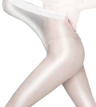 31e1ec33bda83 Metelam 8D Shiny Tights Shimmery Sheer Stockings Crotchless Dancing Plus  Size