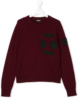 DSQUARED2 badge embroidered jumper