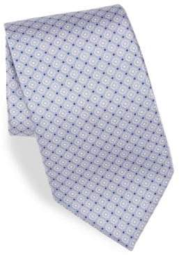 Canali Diamond Print Silk Tie