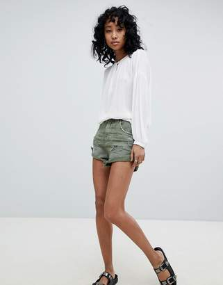 One Teaspoon Bandits Highwaisted Short with Roll Hem
