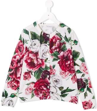 Dolce & Gabbana rose print cardigan