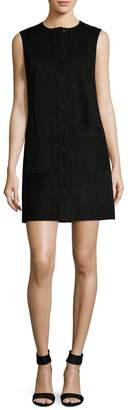 Helmut Lang Women's Leather Front Placket Shift Dress