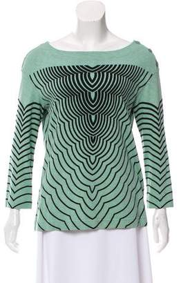 Marc by Marc Jacobs Printed Bateau Neck Top