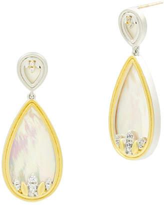 Freida Rothman Fleur Bloom Mother-of-Pearl Teardrop Earrings