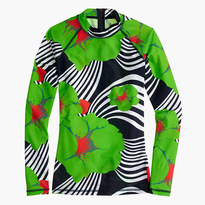 J.Crew Rash guard in Ratti® striped floral