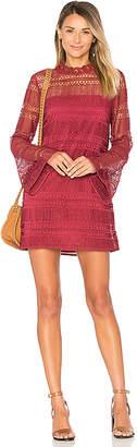 Tularosa Matilda Lace Dress in Fuchsia $228 thestylecure.com