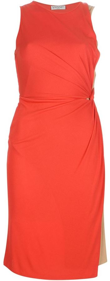 Vionnet knot fitted dress
