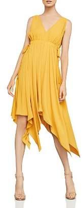BCBGMAXAZRIA Handkerchief-Hem Midi Dress