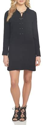 1 STATE 1.State Lace-Up Shirt Dress