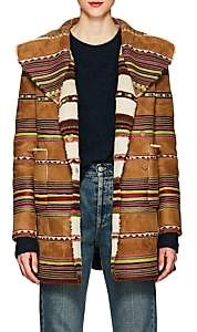 Valentino Women's Reversible Striped Shearling Coat
