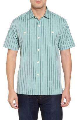 Tommy Bahama Florida Geometric Line Silk Blend Camp Shirt