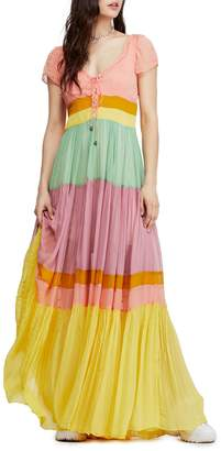 Free People Hocus Pocus Colourblock Maxi Dress