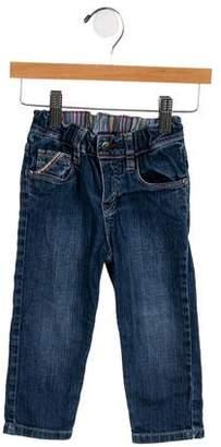 Paul Smith Girls' Elasticized Straight-Leg Jeans