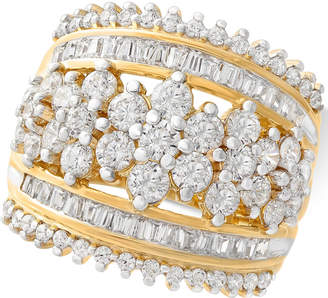 Macy's Wrapped In Love Diamond Cluster Statement Ring (2-1/2 ct. t.w.) in 14k Gold, Created for