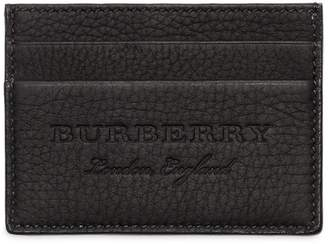 Burberry Logo Tumbled Leather Card Holder