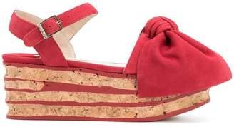 Paloma Barceló platform bow sandals