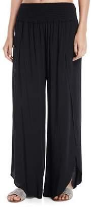 Seafolly Shirred-Waist Wrap-Leg Coverup Pants