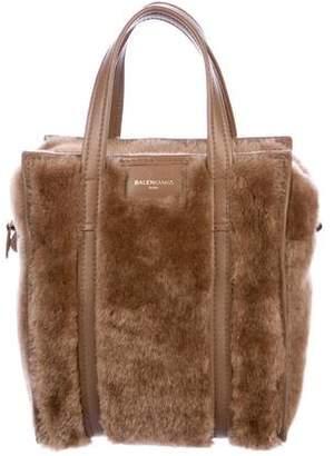 Balenciaga Shearling Bazar Shopper XS 66b33580fd685