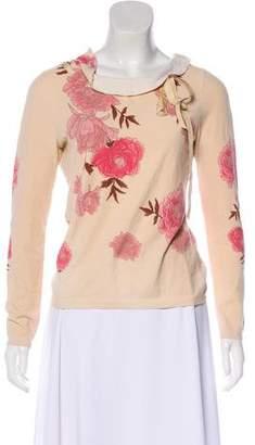 Blumarine Floral Long Sleeve Top