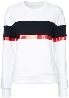 GUILD PRIME contrast stripe sweatshirt