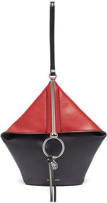 Alexander McQueen 'Butterfly' colourblock leather wristlet clutch