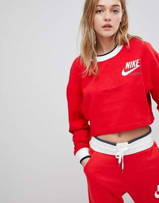 Nike Archive Reversible Sweatshirt In Red