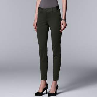 Vera Wang Women's Simply Vera Everyday Luxury Ponte Skinny Pants