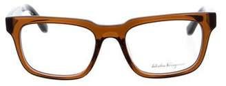 Salvatore Ferragamo Translucent Logo Eyeglasses w/ Tags