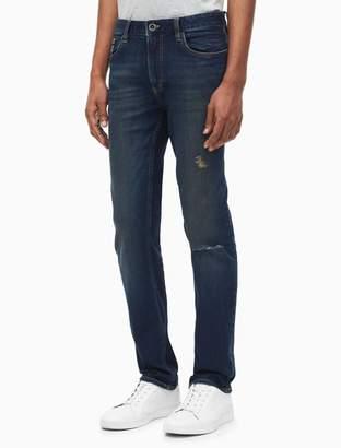 Calvin Klein skinny fit myrtle blue distressed jeans
