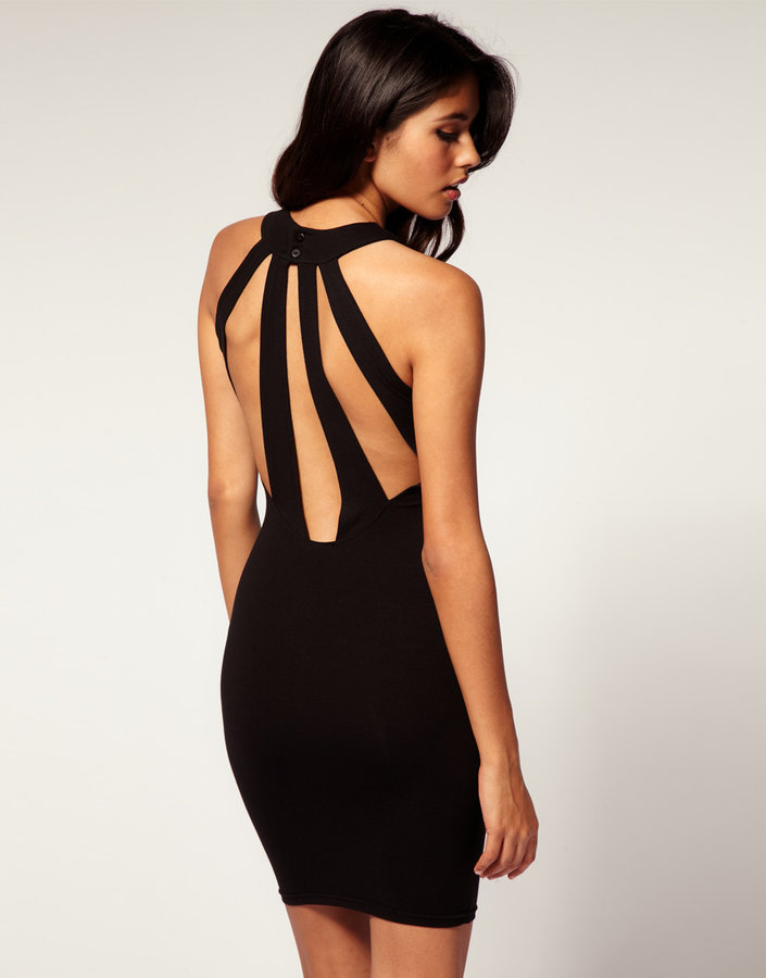 ASOS Body-Conscious Dress With Slash Back
