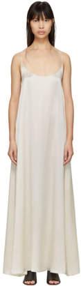 Mansur Gavriel White Silk Flowy Dress