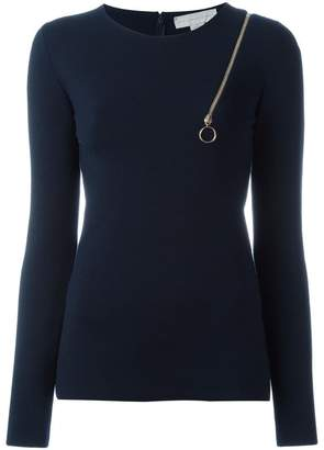 Stella McCartney zip shoulder detail top