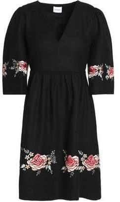 Vilshenko Embroidered Silk Dress