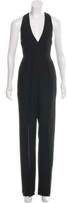 Halston Crepe Wide-Leg Jumpsuit w/ Tags