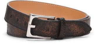 Donald J Pliner FRANNI, Metallic Mini Pebble Brushed Leather Belt