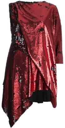 Marques Almeida Marques'almeida sequin embellished asymmetric mini dress