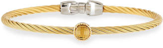 Alor Orange Citrine Single-Station Bangle Bracelet