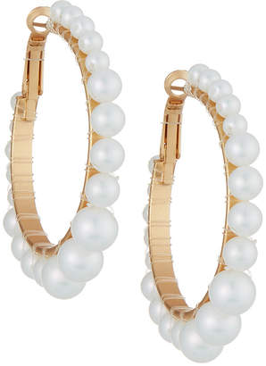 Romeo & Juliet Couture Iridescent Pearly Hoop Earrings