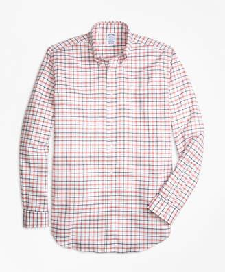 Brooks Brothers Regent Fit Oxford Large Check Sport Shirt