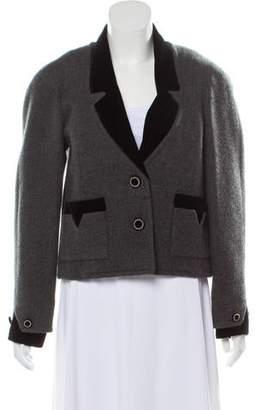 Chanel Velvet-Trimmed Cashmere Jacket