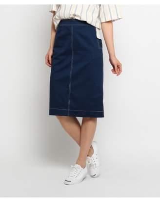 Dessin (デッサン) - デッサン [洗える][後ろゴム]配色ステッチチノスカート
