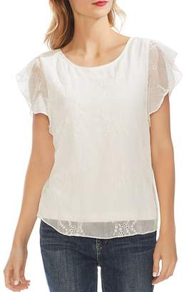 Vince Camuto Eyelet Flutter-Sleeve Top - 100% Exclusive