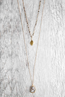 Shira Melody Emma Double Layer Geode Necklace