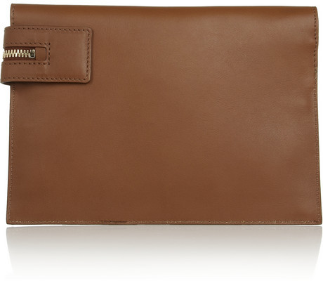 Victoria Beckham Two-tone leather clutch