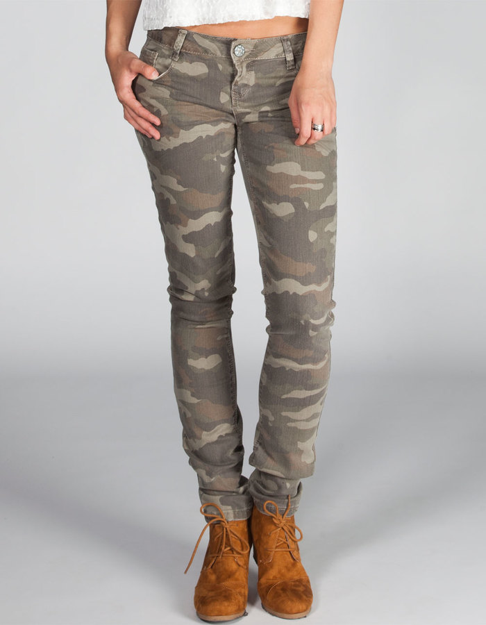 Vanilla Star HIPPIE LAUNDRY Camo Womens Skinny Pants