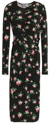 Preen by Thornton Bregazzi Margerita Floral-Print Stretch-Jersey Midi Dress